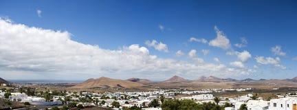 Vista panoramica dell'isola di Lanzarote fotografia stock libera da diritti