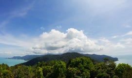 Vista panoramica dell'isola di Penang Immagine Stock