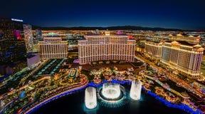 Vista panoramica dell'orizzonte di Las Vegas immagini stock libere da diritti