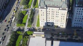 Vista panoramica dell'orizzonte di Québec video d archivio