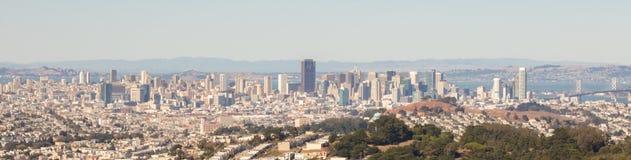 Vista panoramica dell'orizzonte di San Francisco Fotografia Stock Libera da Diritti