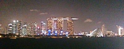 Vista panoramica dell'orizzonte di Singapore Fotografia Stock Libera da Diritti