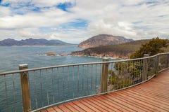 Vista panoramica della baia del bicchiere di vino Fotografia Stock