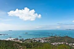 Vista panoramica della baia della spiaggia Immagine Stock Libera da Diritti