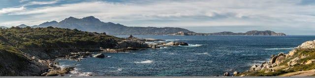 Vista panoramica della baia di Calvi in Corsica Immagine Stock