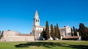 Vista panoramica della basilica di Aquileia Fotografie Stock Libere da Diritti
