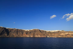 Vista panoramica della caldera in Santorini Fotografie Stock