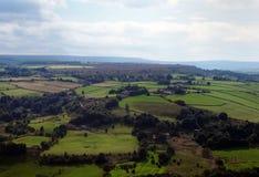 Vista panoramica della campagna di West Yorkshire vicino a Halifax fotografia stock libera da diritti