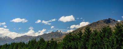 Vista panoramica della catena montuosa Fotografia Stock