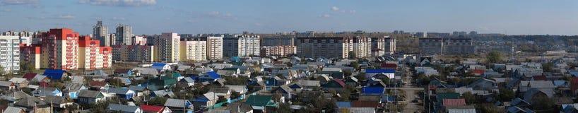 Vista panoramica della città Immagini Stock Libere da Diritti