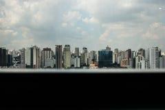 Vista panoramica della città da un'alta camera di albergo Immagine Stock Libera da Diritti