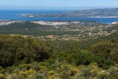 Vista panoramica della città di Argostoli, Kefalonia, la Grecia Fotografia Stock Libera da Diritti
