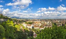 Vista panoramica della città di Bergamo, Italia Fotografia Stock Libera da Diritti