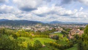 Vista panoramica della città di Bergamo, Lombardia, Italia Immagini Stock