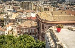 Vista panoramica della città di Cagliari, isola della Sardegna, Italia immagine stock libera da diritti