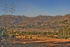 Vista panoramica della città di Cajabamba dalla costa Ovest Fotografie Stock