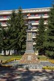Vista panoramica della città di Etropole, Sofia Province, Bulgaria fotografia stock libera da diritti