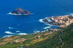 Vista panoramica della città di Garachico, Tenerife, isole Canarie, Spai Fotografia Stock Libera da Diritti