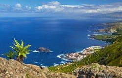 Vista panoramica della città di Garachico, Tenerife, isole Canarie, Spai Fotografia Stock
