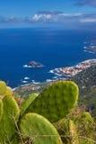 Vista panoramica della città di Garachico, Tenerife, isole Canarie, Spai Immagini Stock
