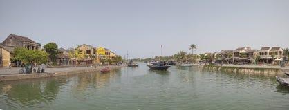 Vista panoramica della città di Hoi An Immagini Stock Libere da Diritti