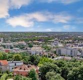 Vista panoramica della città di Kaunas Fotografie Stock
