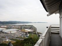 Vista panoramica della città di Kitsuki - prefettura di Oita, Giappone fotografie stock libere da diritti