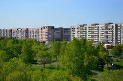 Vista panoramica della città di Komsomol'sk-na-Amure, Russia Fotografia Stock Libera da Diritti