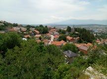 Vista panoramica della città di Livno, Bosnia-Erzegovina fotografia stock