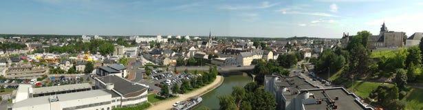 Vista panoramica della città di Montargis fotografia stock libera da diritti