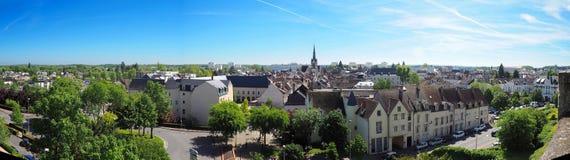 Vista panoramica della città di Montargis fotografia stock