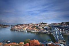 Vista panoramica della città di Oporto Fotografie Stock Libere da Diritti