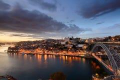 Vista panoramica della città di Oporto Fotografia Stock Libera da Diritti