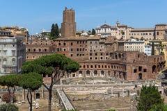 Vista panoramica della città di Roma dal tetto dell'altare della patria, Italia Immagine Stock Libera da Diritti