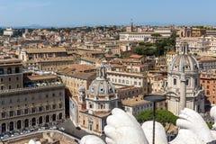 Vista panoramica della città di Roma dal tetto dell'altare della patria, Italia Fotografie Stock