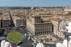 Vista panoramica della città di Roma dal tetto dell'altare della patria, Italia Immagine Stock