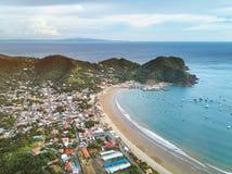 Vista panoramica della città di San Juan del sur fotografia stock libera da diritti