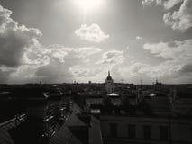 Vista panoramica della città di Vilnius fotografia stock libera da diritti