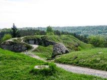 Vista panoramica della collina verde Immagini Stock