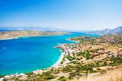 Vista panoramica della costa di mare in Creta, Grecia fotografie stock libere da diritti