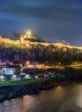 Vista panoramica della fortezza di Tsarevets Fotografia Stock