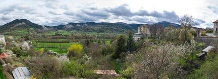 Vista panoramica della Francia rurale Fotografia Stock Libera da Diritti
