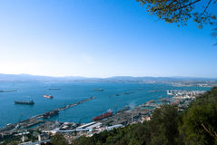 Vista panoramica della Gibilterra Fotografie Stock