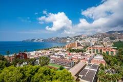 Vista panoramica della località di soggiorno di Almuñécar Almunecar Fotografie Stock