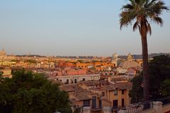 Vista panoramica della mattina Roma Fotografia Stock Libera da Diritti