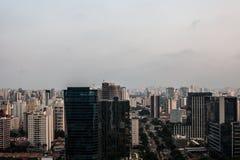 Vista panoramica della metropoli Fotografie Stock Libere da Diritti