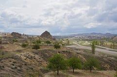 Vista panoramica della molla Cappadocia fotografie stock libere da diritti