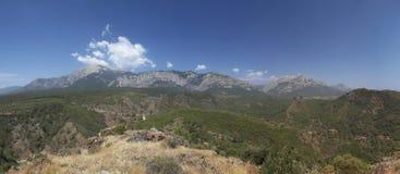 Vista panoramica della montagna Fotografia Stock