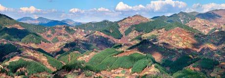 Vista panoramica della montagna di Rodopi Immagine Stock