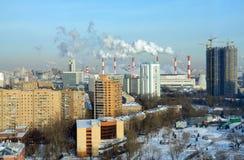 Vista panoramica della parte sudoccidentale di Mosca, Russia Fotografia Stock Libera da Diritti